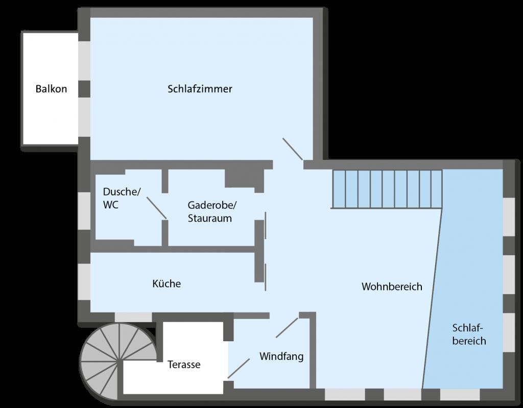 Grundriss Ferienwohnung Wohnung