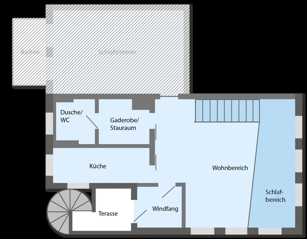 Grundriss Ferienwohnung Appartement